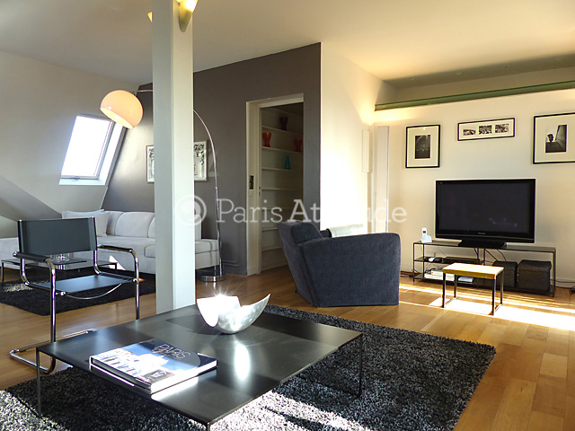 The25 Square Meters Living Room Has 2 Double Glazed Windows Leading To Balconies Facing Street And The Luxembourg Garden It Is Upstairs Furnished