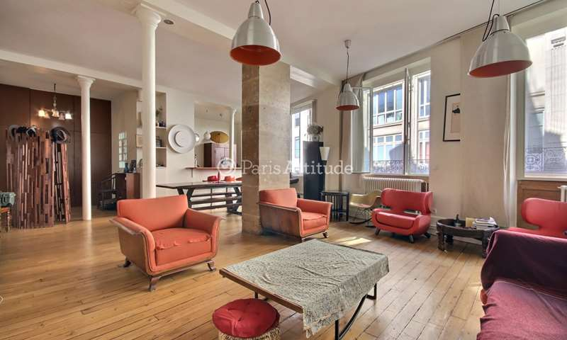 Rent Loft 2 Bedroom 125m² rue Saint Fiacre, 75002 Paris