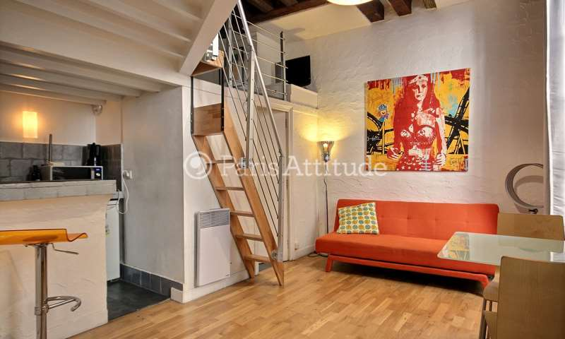 Rent Apartment Studio 20m² rue de Buci, 75006 Paris