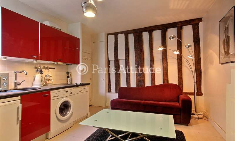 Rent Apartment 1 Bedroom 27m² rue Saint Martin, 4 Paris