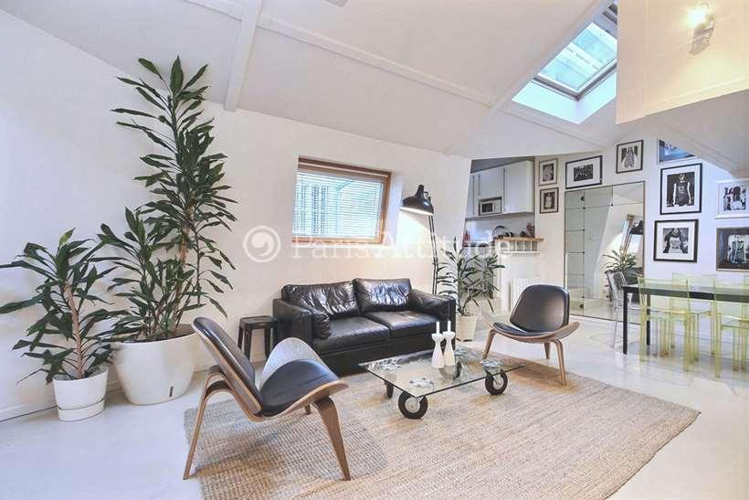 Rent furnished Loft 2 Bedrooms 70m² passage Charles Dallery, 75011 Paris