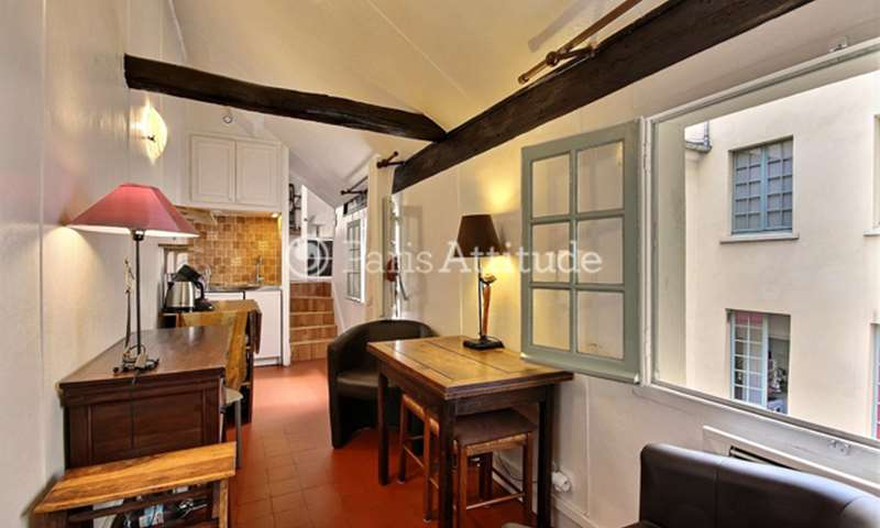 Location Appartement Alcove Studio 20m² rue Quincampoix, 75004 Paris
