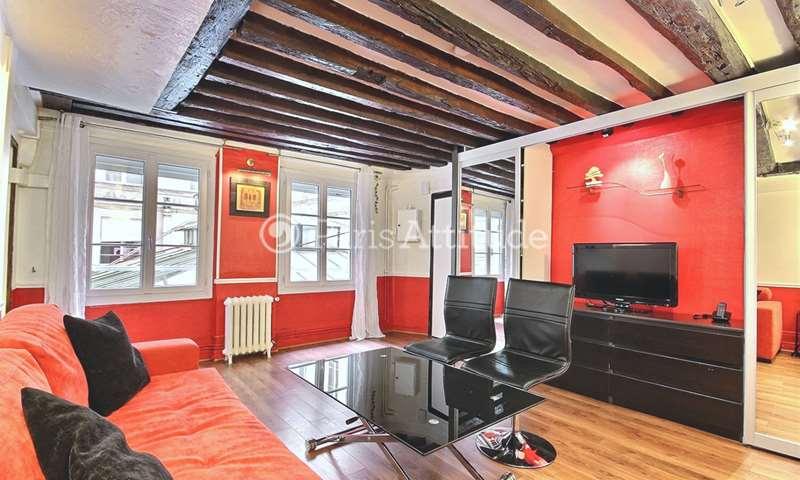Rent Apartment Studio 28m² rue Jean Jacques Rousseau, 1 Paris