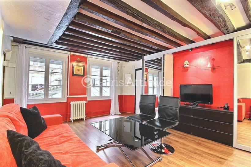 Rent furnished Apartment Studio 28m² rue Jean Jacques Rousseau, 75001 Paris