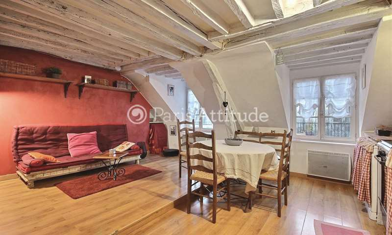 Rent Duplex 2 Bedroom 40m² rue de Rochechouart, 75009 Paris