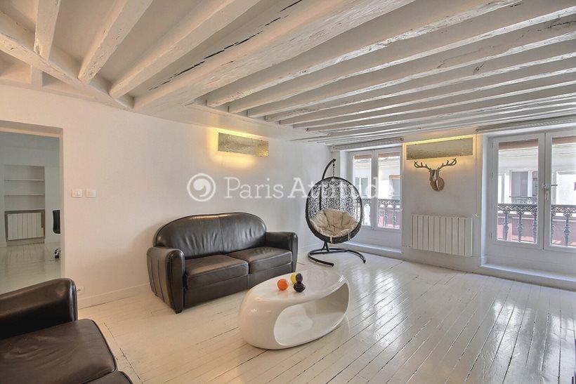 Rent furnished Apartment 1 Bedroom 61m² rue Mandar, 75002 Paris