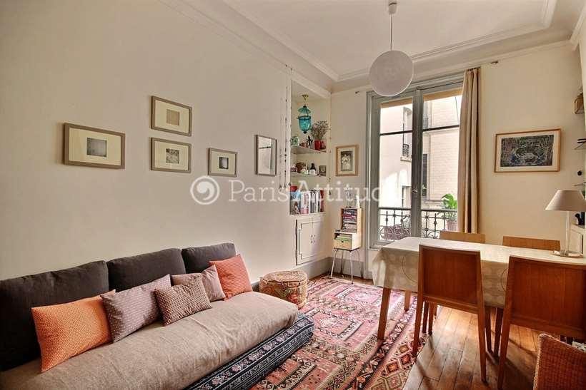 Louer Appartement meublé 1 Chambre 38m² rue Tardieu, 75018 Paris