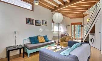 Rent Townhouse 2 Bedrooms 65m² rue Saint Fargeau, 20 Paris