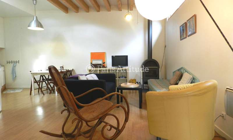 Rent Townhouse 2 Bedroom 65m² rue Saint Fargeau, 75020 Paris