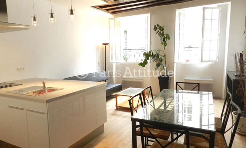 Rent Apartment 1 Bedroom 50m² rue Saint Martin, 75003 Paris