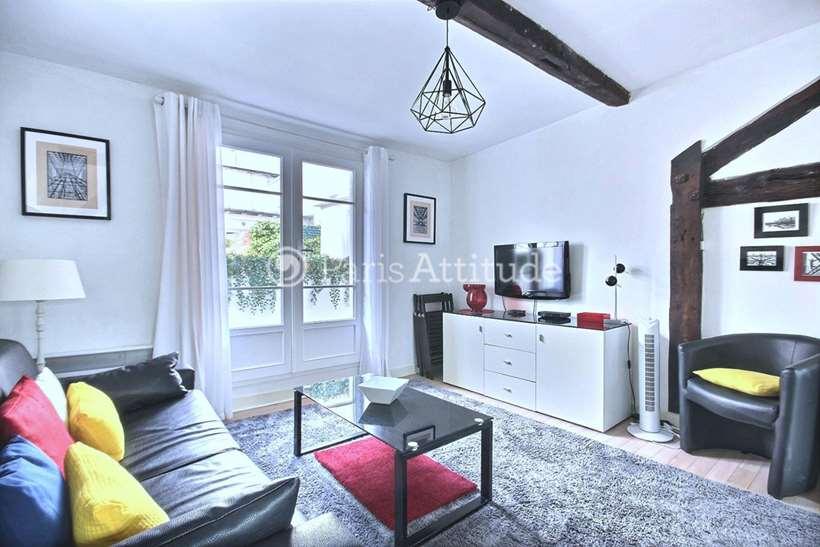 Rent furnished Duplex 1 Bedroom 37m² rue des Prouvaires, 75001 Paris