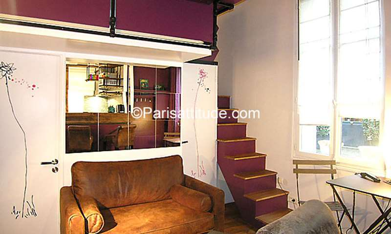 Location Appartement Alcove Studio 20m² rue du Petit Musc, 75004 Paris