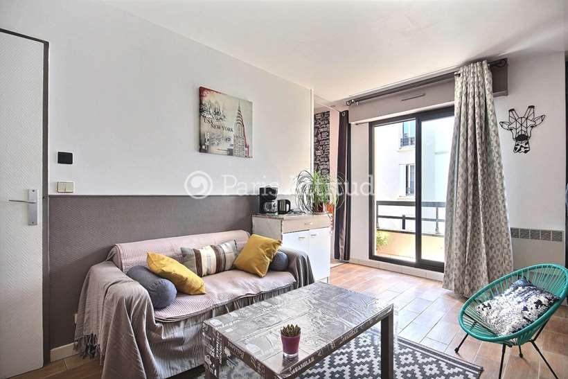 Rent furnished Apartment Studio 30m² rue de Meaux, 75019 Paris