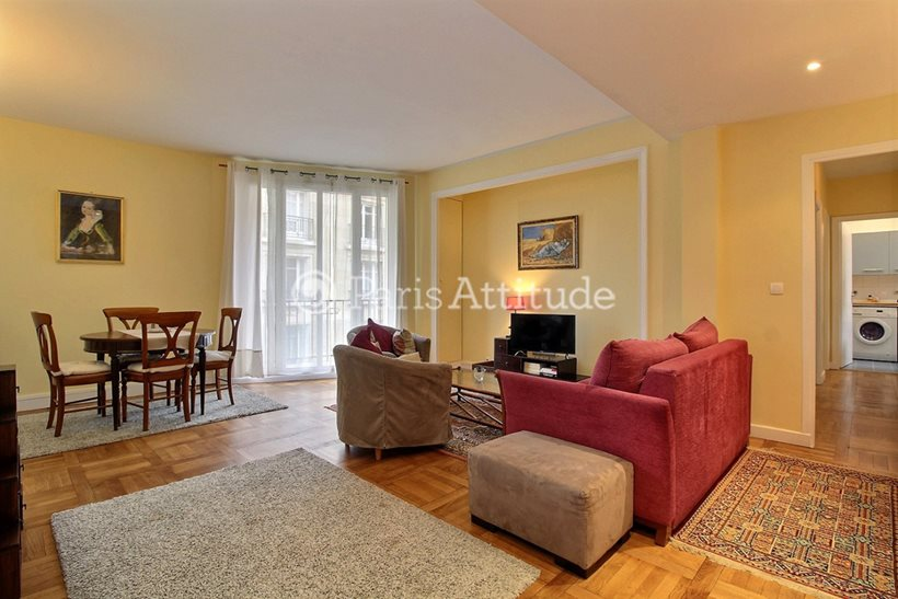 Rent furnished Apartment 2 Bedrooms 74m² rue Degas, 75016 Paris