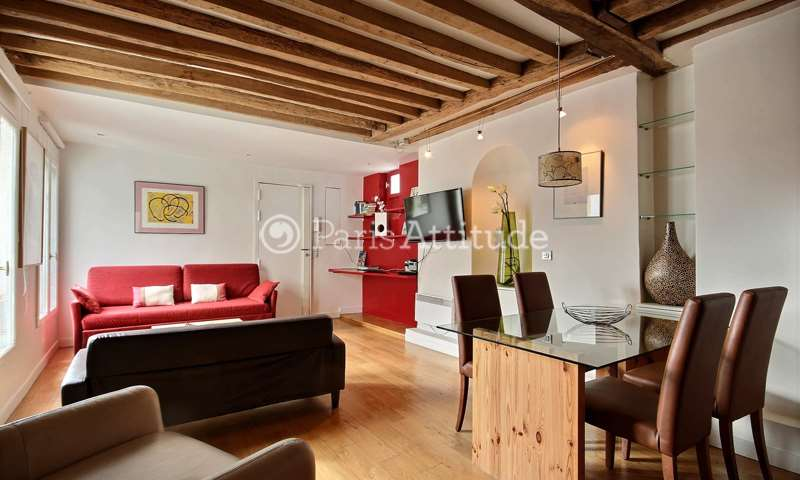 Rent Apartment 1 Bedroom 45m² rue du Temple, 3 Paris