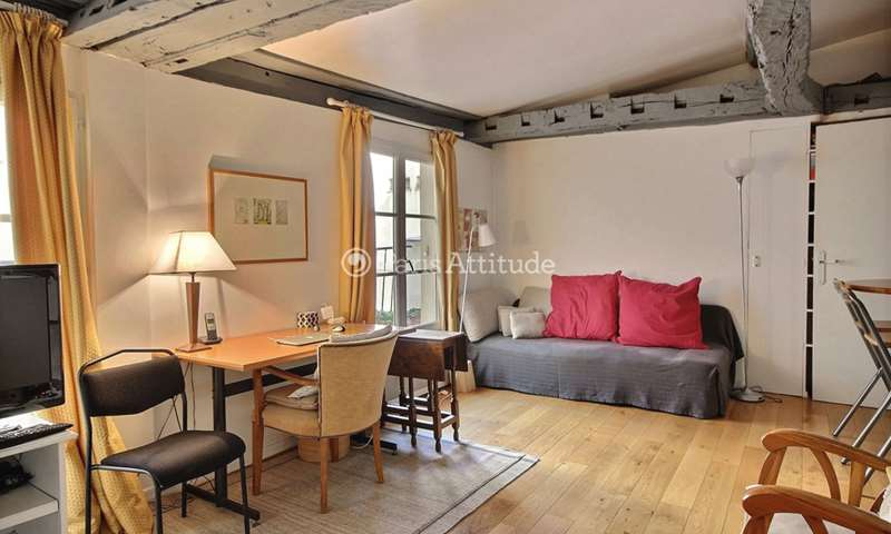 Rent Apartment Alcove Studio 30m² rue Pavee, 4 Paris