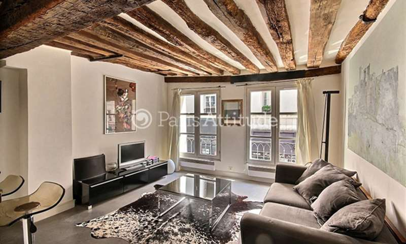 Rent Apartment 1 Bedroom 40m² rue Saint Martin, 3 Paris