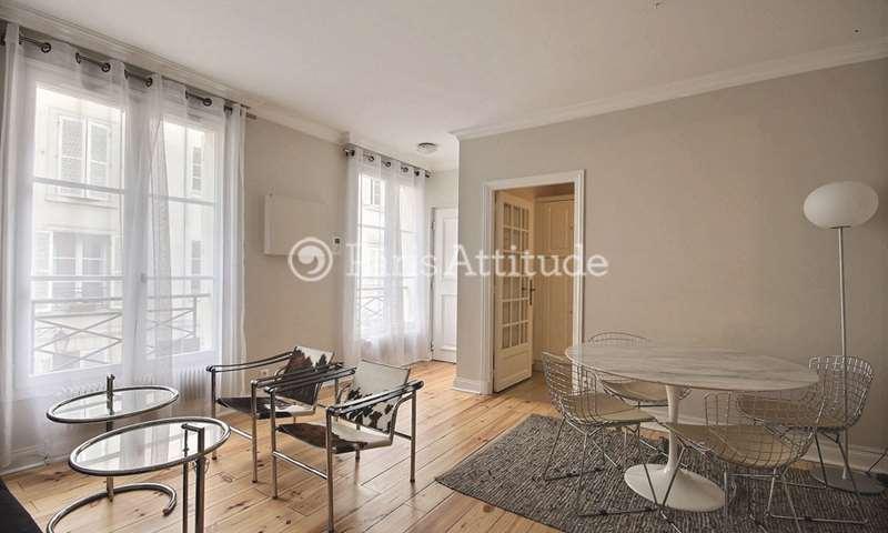 Rent Apartment 1 Bedroom 42m² rue Pierre Leroux, 7 Paris