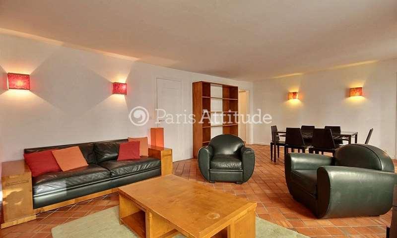 Rent Apartment 2 Bedrooms 76m² rue Saint Jean Baptiste de La Salle, 6 Paris