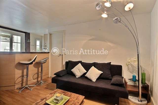 Rent furnished Apartment 1 Bedroom 40m² rue du Roi de Sicile, 75004 Paris