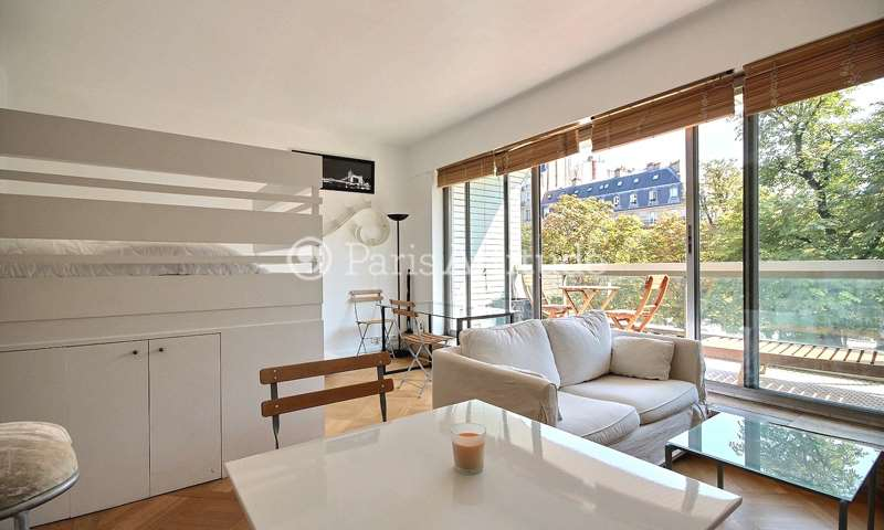 Rent Apartment Alcove Studio 30m² avenue Henri Martin, 16 Paris