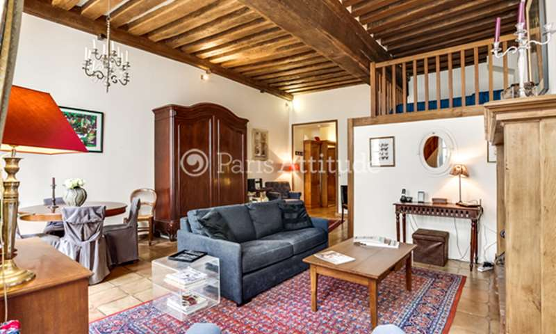 Rent Apartment 1 Bedroom 40m² rue Le Regrattier, 75004 Paris
