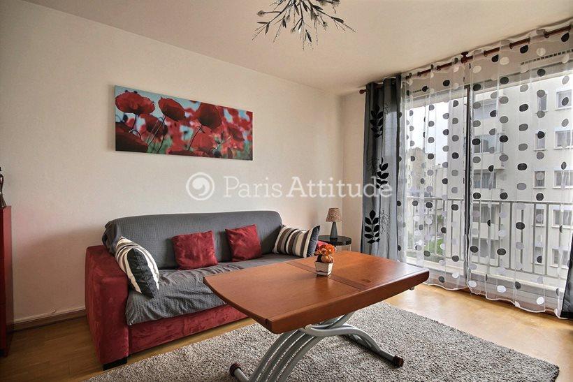 Rent furnished Apartment 1 Bedroom 42m² rue de Lourmel, 75015 Paris