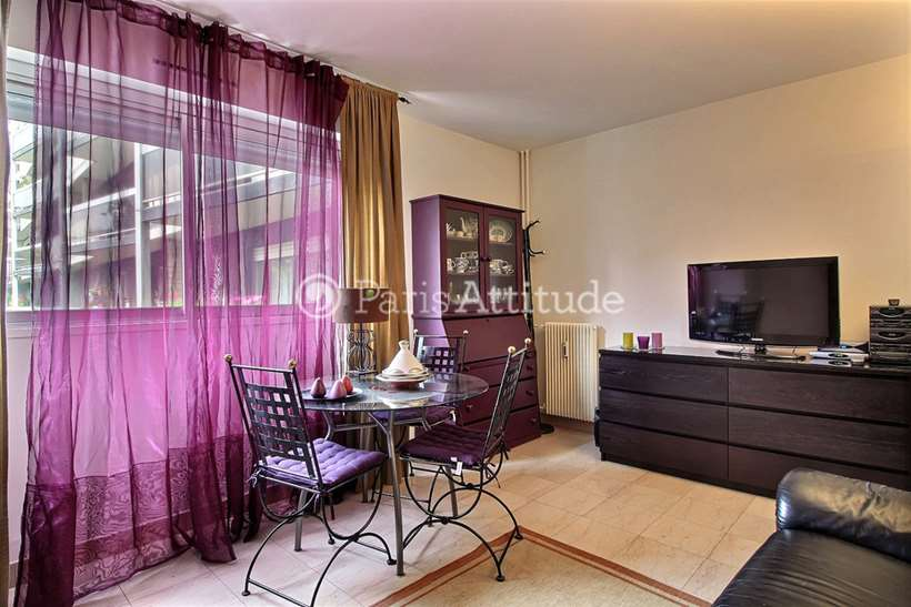 Rent furnished Apartment Alcove Studio 31m² rue Saint Saens, 75015 Paris