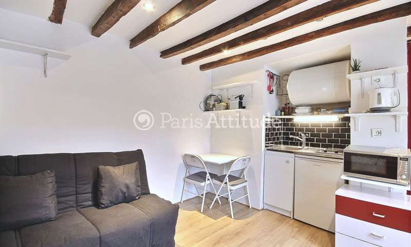 Rent Apartment Studio 16m² rue du Vertbois, 75003 Paris