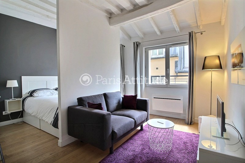Rent Apartment Alcove Studio 32m² rue Saint Sauveur, 75002 Paris