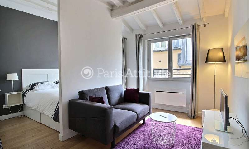 Rent Apartment Alcove Studio 32m² rue Saint Sauveur, 2 Paris