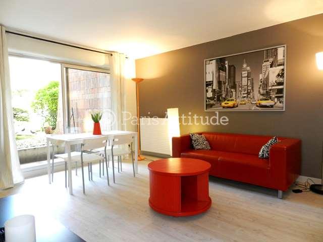 Rent furnished Duplex 2 Bedrooms 60m² rue de Cambrai, 75019 Paris