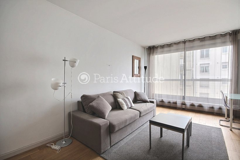 Rent furnished Apartment Studio 28m² rue de Lourmel, 75015 Paris