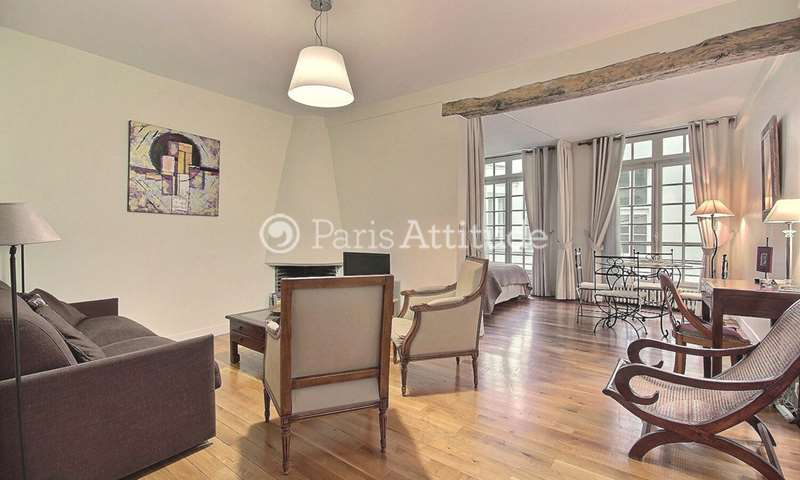 Location Appartement Alcove Studio 45m² rue Suger, 6 Paris