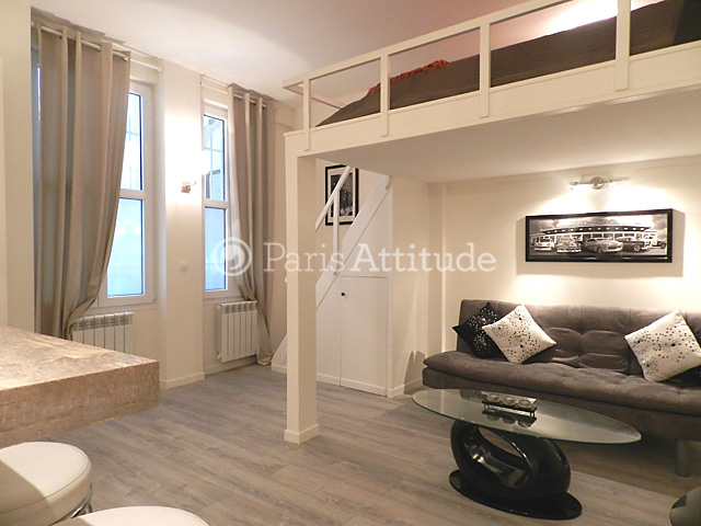 Rent apartment in paris 75017 30m batignolles ref 9027 - Chambre mezzanine adulte ...
