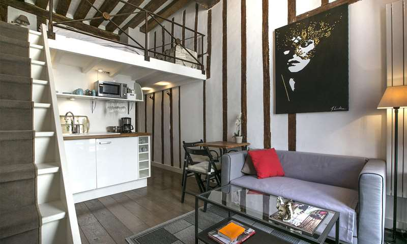 Rent Apartment Studio 27m² rue Pastourelle, 75003 Paris