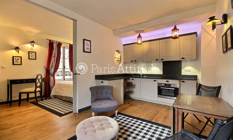 Rent Apartment 1 Bedroom 30m² rue de Seine, 75006 Paris