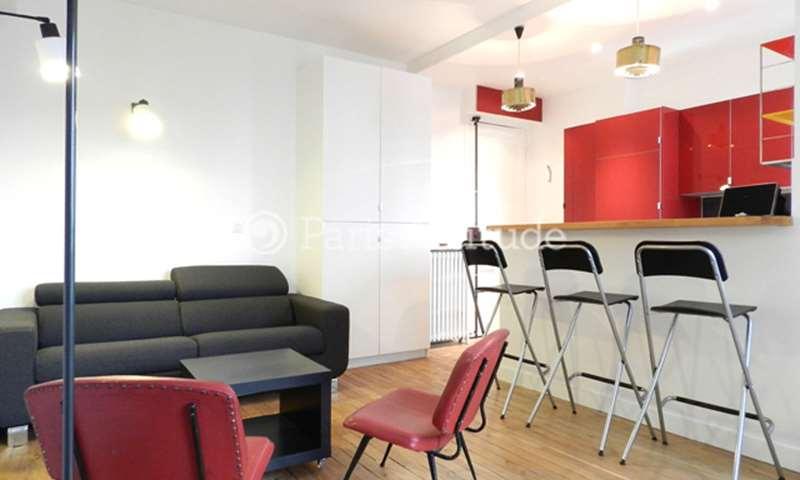 Rent Apartment Studio 25m² rue du Mont Cenis, 18 Paris