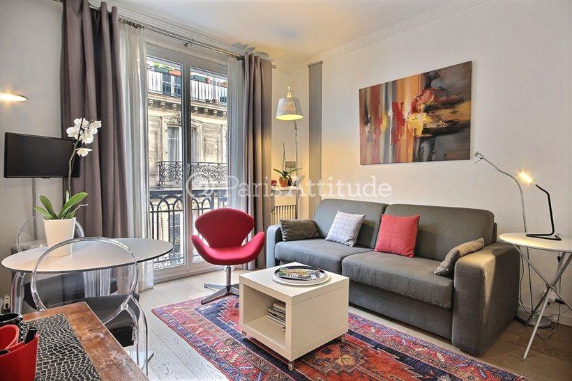 Rent furnished Apartment Studio 20m² boulevard de la Madeleine, 75009 Paris