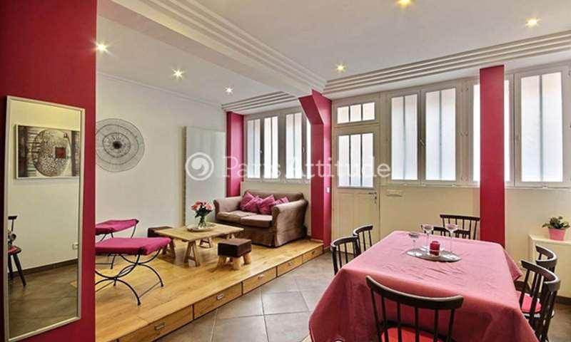 Rent Duplex 2 Bedrooms 80m² rue Lagille, 18 Paris