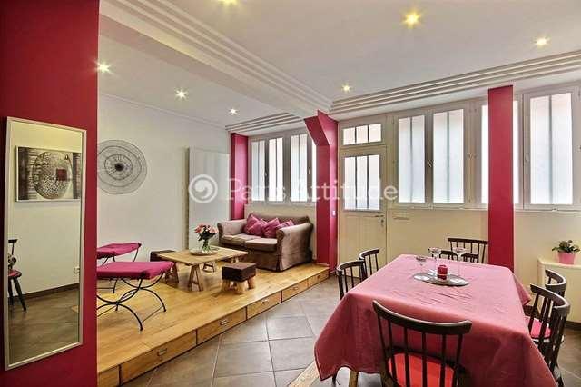 Louer Duplex meublé 2 Chambres 80m² rue Lagille, 75018 Paris
