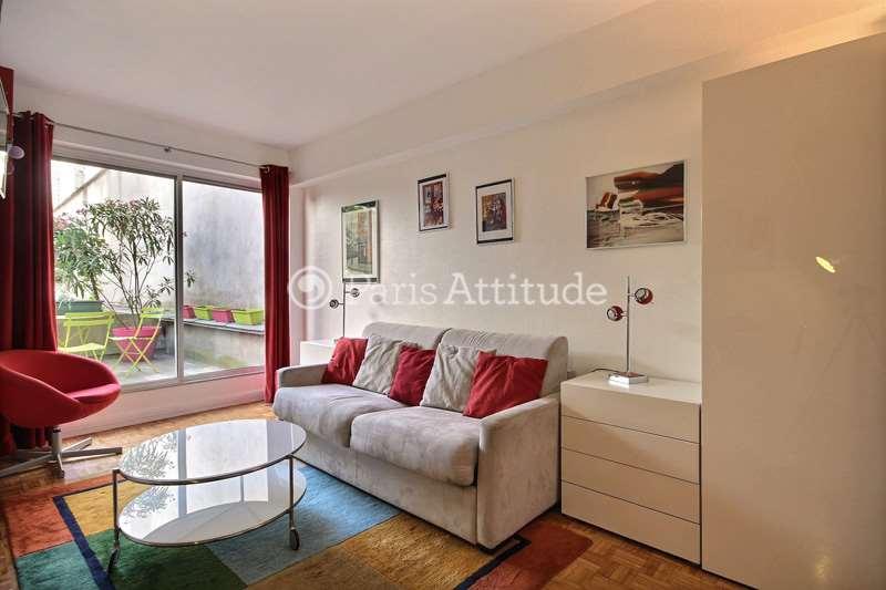 Rent furnished Apartment Studio 26m² place Jacques Bonsergent, 75010 Paris