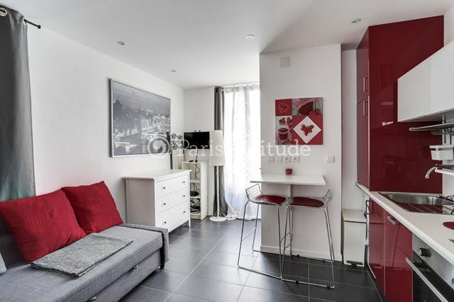 Rent furnished Apartment Studio 15m² rue Constance, 75018 Paris